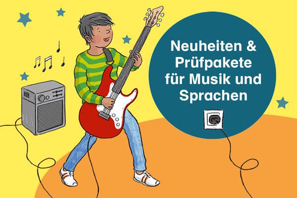 Neuheiten und Prüfpakete für Musik und Sprachen