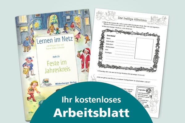 Kostenloses Arbeitsblatt: Der heilige Nikolaus